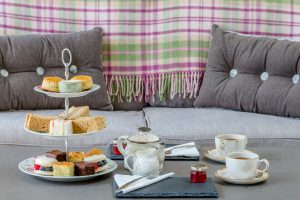 Afternoon tea selection, relaxing on the sofas