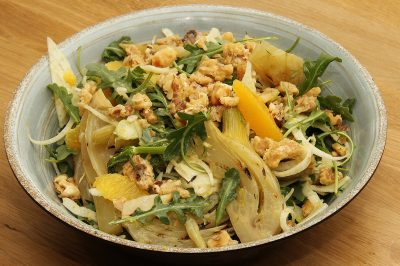 Roast citrus fennel salad