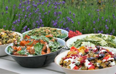 Fresh seasonal summer salads